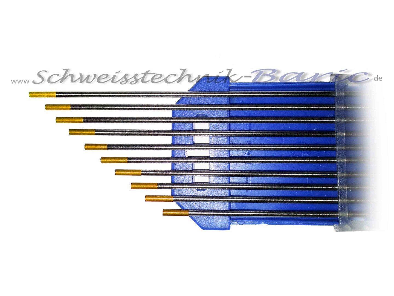 wolfram elektrode gold wl15 zum wig dc schwei en. Black Bedroom Furniture Sets. Home Design Ideas